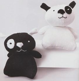 Hond zwart-wit en wit-zwart