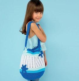 Gehaakte tas voor kinderen.