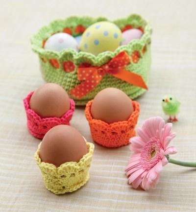 Haakpatroon Mandje en eierdopjes
