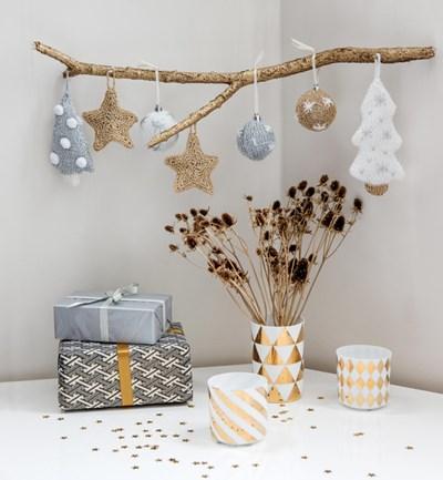 Brei- en haakpatroon Kerstboom versiering