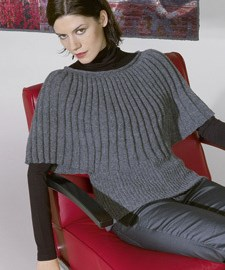 lang Yarns Breipatroon damestrui met halflange mouw, deze trui is gebreid van het garen Lang Yarns Novena 768.