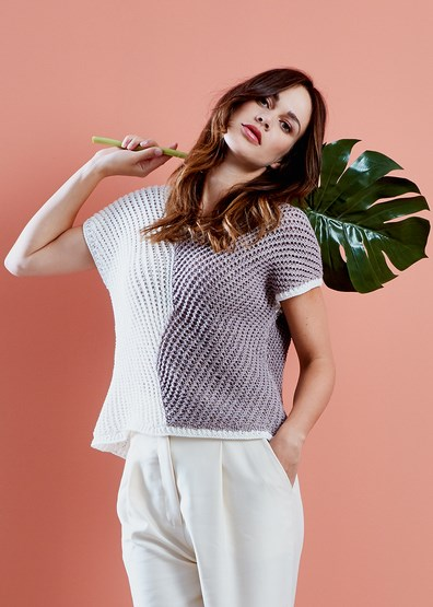 Breipatroon Dames shirt