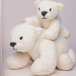 Moeder ijsbeer en kind