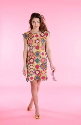 Haakpatroon jurk, gemaakt van ....