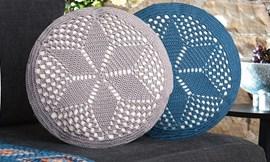 Haakpatroon ronde kussens, gemaakt van ....
