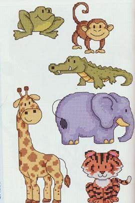 Grappige dieren om te borduren, o.a. ....
