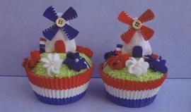Hollandse molen cupcake