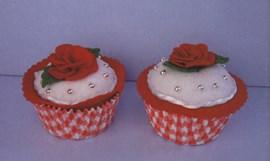 Rozen cupcake