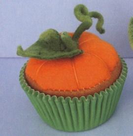 Pompoen cupcake