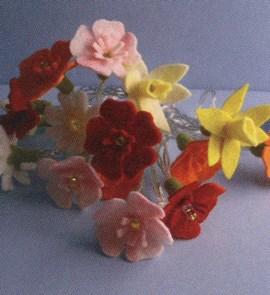 Bloemenslinger met lampjes