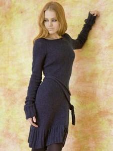 Breipatroon jurk met ceintuur, gemaakt ....