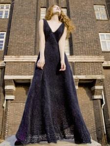 Brei en haakpatroon lange jurk, gemaakt ....