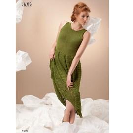 Gebreide jurk met split.