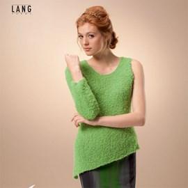 Gebreide trui met een mouw.