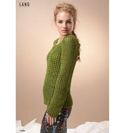 Gebreide trui met lange mouwen.