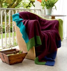 Mooie deken gemaakt van lang yarns ....