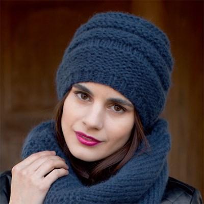Breipatroon Muts met ronde sjaal