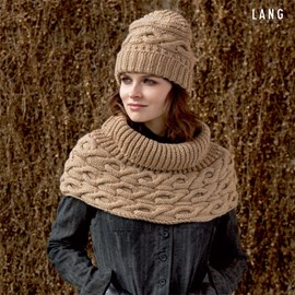 Leuke ronde sjaal met kabels voor ....