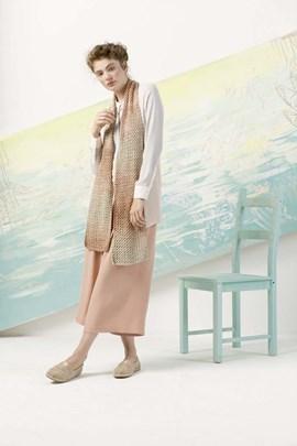 Gebreide dames sjaal. 22x150 cm