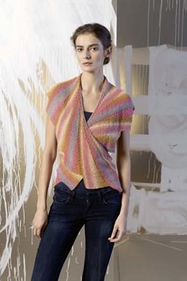 Gebreide dames sjaal. 21x192 cm