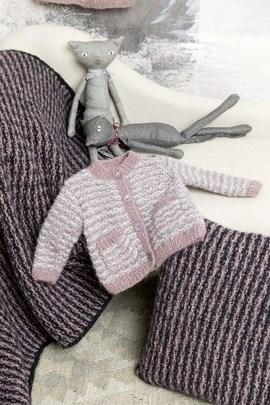Breipatroon babyvestje, gemaakt van ....