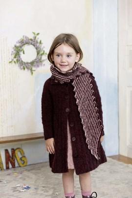 Breipatroon kindersjaal, gemaakt van ....
