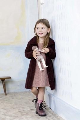 Breipatroon kinder mantel, gemaakt van ....