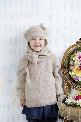 Breipatroon kindermuts met bloem, ....