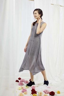 Breipatroon mouwloze jurk, gemaakt van ....