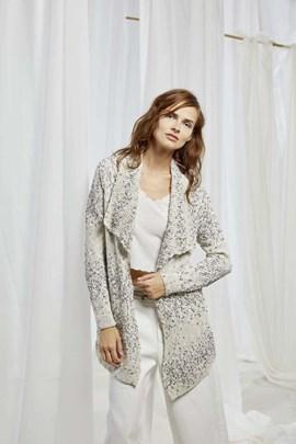 Breipatroon dames vest, gemaakt van ....