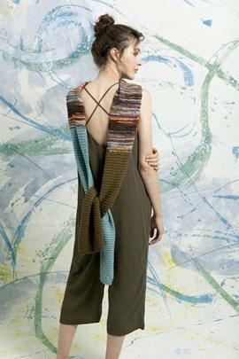 Breipatroon sjaal, gemaakt van Lang ....