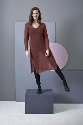 Breipatroon jurk met split, gemaakt van ....