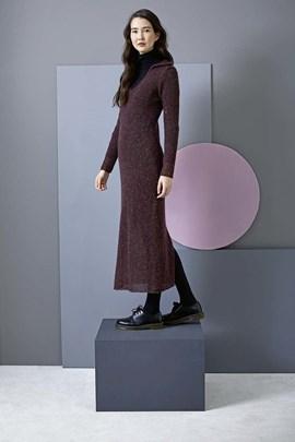 Breipatroon lange jurk, gemaakt van ....
