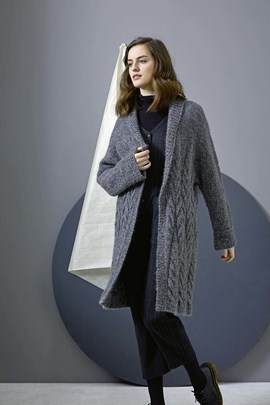 Breipatroon oversized damesvest, ....