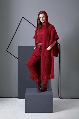 Breipatroon cape, gemaakt van Lang ....