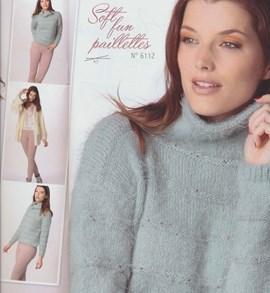 Gebreide trui van zachte kwaliteit.