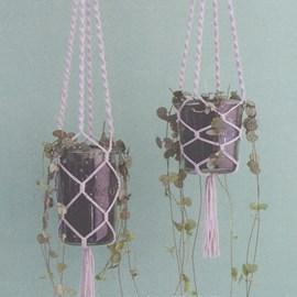 Macrame planten hangers.