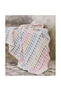 Gehaakte deken met hartjes. 100 x 110 cm