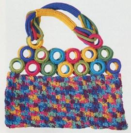 Haakpatroon tas met rondjes