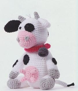 Haakpatroon koe, gemaakt van Scheepjes ....