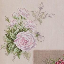 Borduuwerk van rozen.