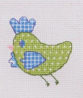 Vogeltjes borduren in kruissteek