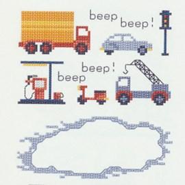 Geborduurde vrachtwagen, auto, ....