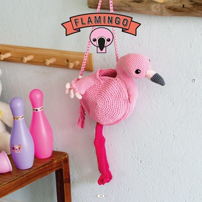 Haakpatroon Flamingo tas