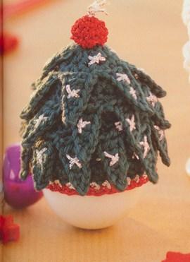 Gehaakt mini kerstboom mutsje voor een ....