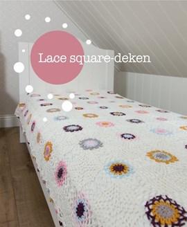 Gehaakte granny square deken. 150x220 cm