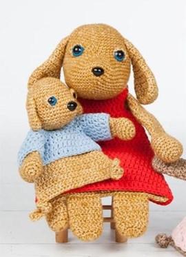 Moeder en pup. 31x16 en 16x10 cm