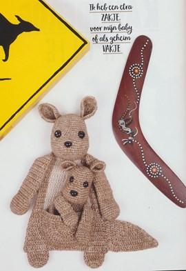 Gehaakte moeder en kind kangoeroe ....