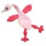 Flamingo met jong van andere kant