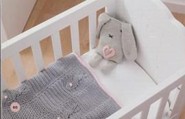 Haakpatroon babydeken, gemaakt van ....